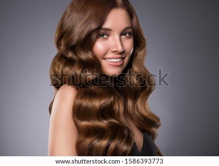 Hair shine woman long healthy hairstyle female #1586393773