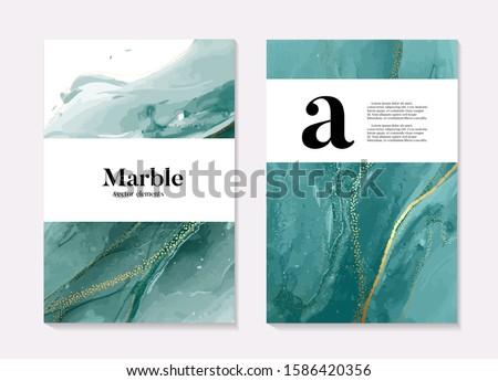 Boho aqua menthe 2020 design, marble liquid flow in turquiose blue green colors, ocean flow design template. Grunge texture design for Banner, invitation, wallpaper, headers, website, print ads. #1586420356
