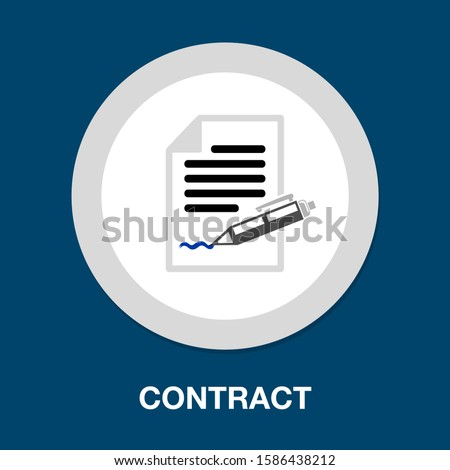 contract icon. flat illustration of contract vector icon. contract sign symbol Royalty-Free Stock Photo #1586438212