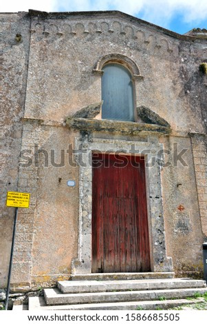 convent and church of the announced Erice Sicily I translate the yellow sign: convent and church of the Annunciation or Carmine (military building) XV century provincial tourism tourism drills #1586685505