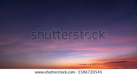 Sunset sky and cloud for background and wallpaper #1586720545