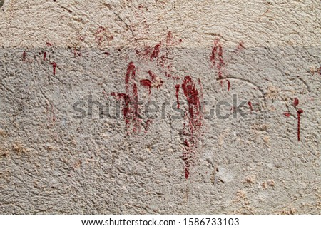 Blood splatters on a wall  #1586733103