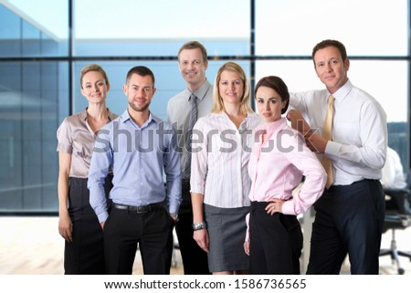 Portrait Of Business Team Working In Modern Office #1586736565
