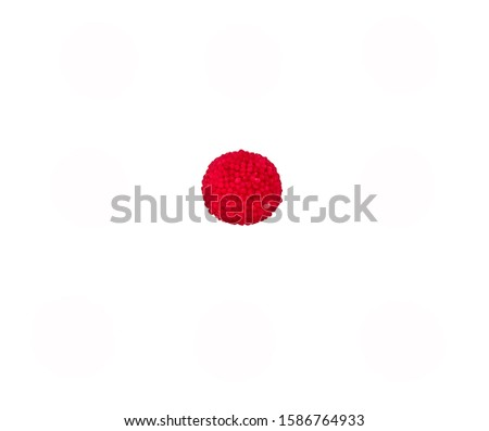 red bauble on white background #1586764933