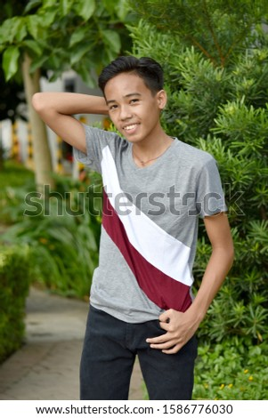 A Confident Teenage Filipino  Male #1586776030
