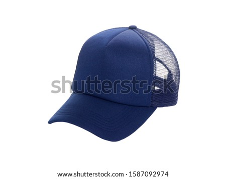 baseball cap blue isolated on white background