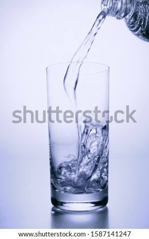 View of water being poured into a glass #1587141247