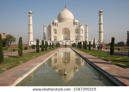 Taj Mahal, Agra, Uttar Pradesh, India, UNESCO World Heritage Site Royalty-Free Stock Photo #1587390319