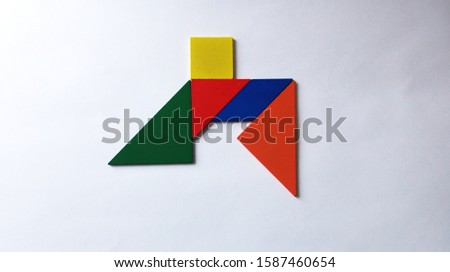 Background and Abstraction Colored geometric shapes #1587460654