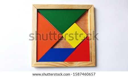 Background and Abstraction Colored geometric shapes #1587460657