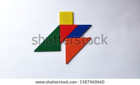 Background and Abstraction Colored geometric shapes #1587460660