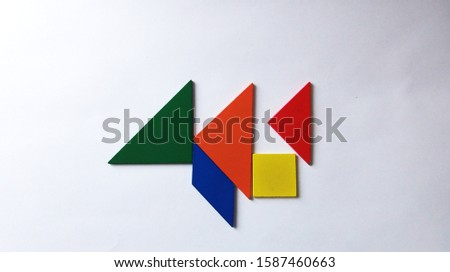 Background and Abstraction Colored geometric shapes #1587460663