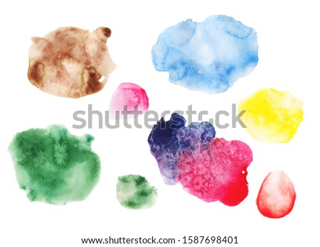 Watercolor stains. watercolor stains on paper. #1587698401