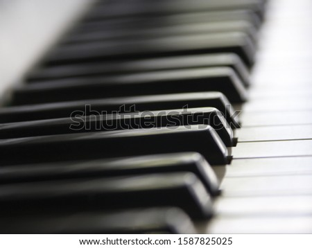 Close up of piano keys #1587825025