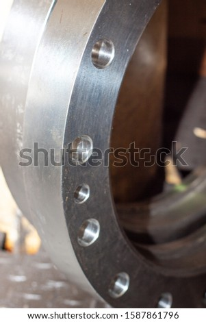 Steel product from a german production line, Siegen, Germany. #1587861796