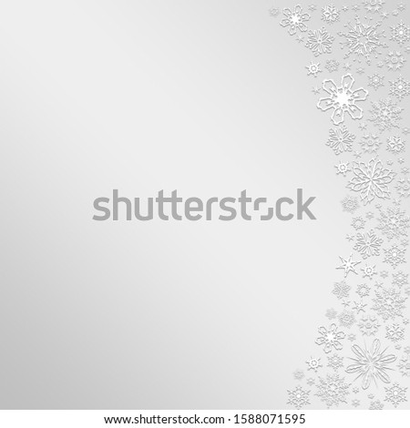 Grey Winter Background with snowflakes for your own creations #1588071595