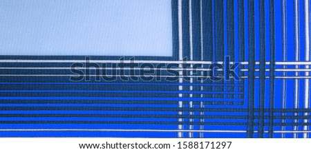 Texture, background, pattern, silk fabric, brown color, geometric lines, pattern from tribal straight lines of different shades, geometric pattern, set for your projects, blue and white #1588171297