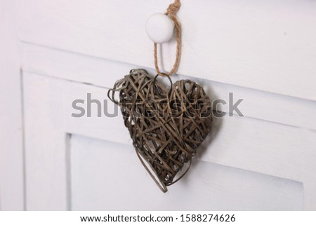 Christmas decoration. Christmas decoration collection on wooden background #1588274626