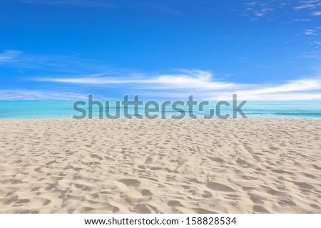 Beautiful Beach and tropical sea, Holiday background #158828534