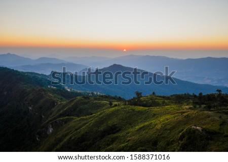 Sunset at Phu Chi Fa, Thailand #1588371016