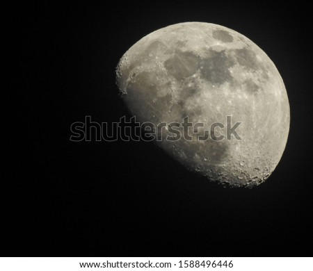 half moon phase at night