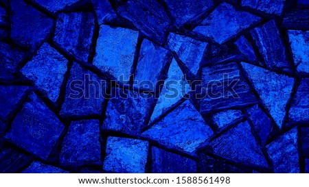 Abstract blue polygonal pattern background