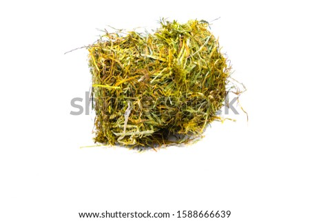Isolated Hay Bale with Flowers