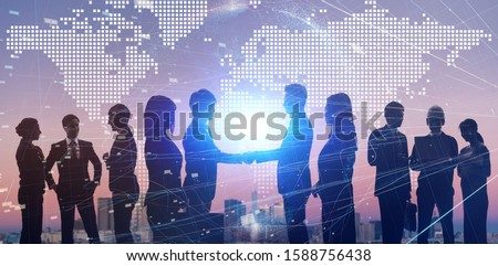 Global business concept. Group of businessprson. #1588756438