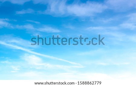 blue sky with beautiful natural white clouds #1588862779