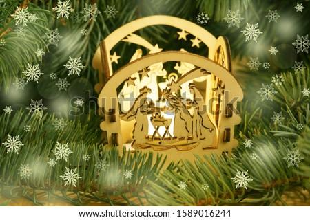 Christmas card with christmas crip #1589016244