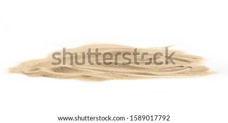 Pile sand isolated on white background #1589017792