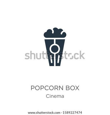 Popcorn box icon vector. Trendy flat popcorn box icon from cinema collection isolated on white background. Vector illustration can be used for web and mobile graphic design, logo, eps10 #1589227474