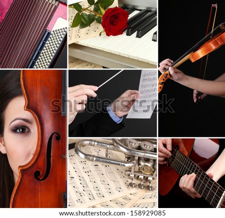 Classical music collage #158929085