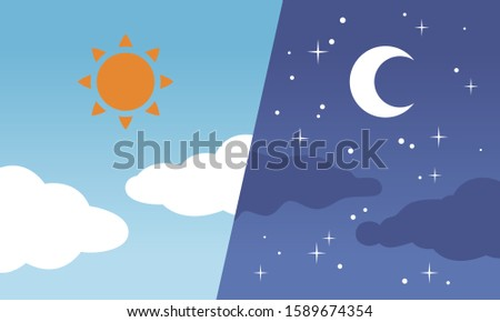 Day and night, sun and moon #1589674354