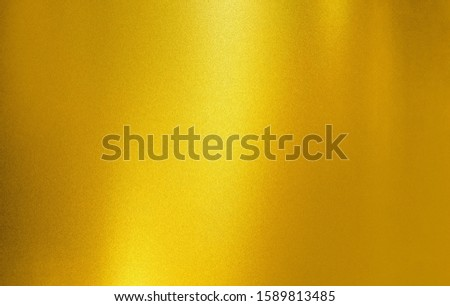 gold metallic  rough and noise glitter art foil texture polished glossy abstract background with copy space, metal gradient template for gold border, frame, ribbon design #1589813485