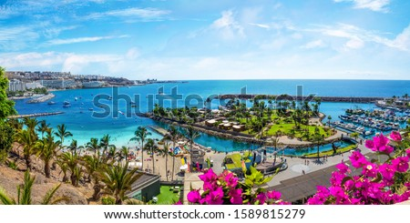 Landscape with Anfi beach and resort, Gran Canaria, Spain #1589815279