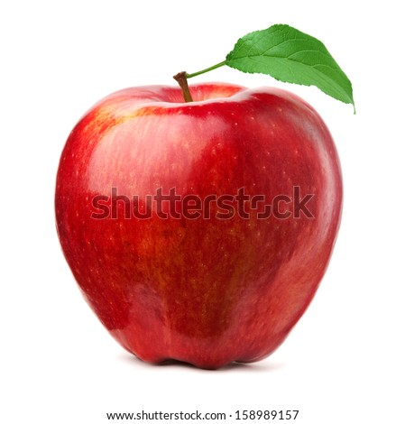 Red apple on white background #158989157