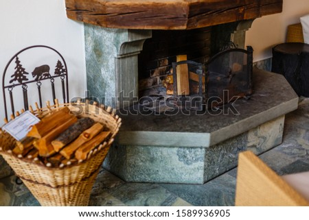 Burning Fireplace, fireplace in the living room #1589936905