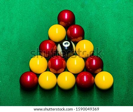 Triangle Rack of English pool balls  #1590049369