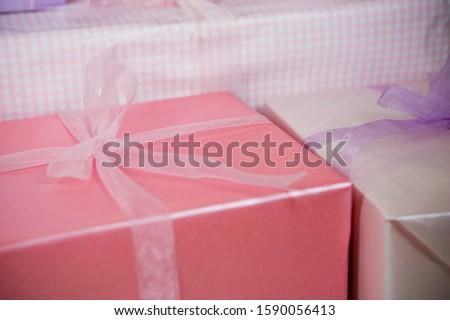 Still life of birthday presents #1590056413