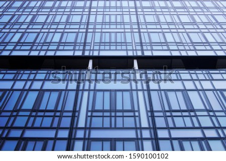 Collage photo of framed hi-tech glass structures. Structural glazing. Modern office building facade with metal framework. Abstract modern architecture or technology. Geometric background with cells. #1590100102
