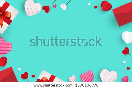 valentines day and love shapes background #1590106978