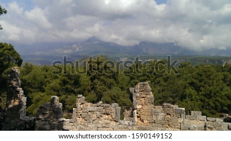 Ruins of the ancient theater of the ancient city of Phaselis #1590149152