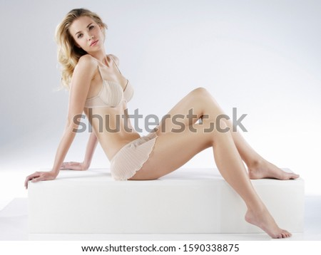 Young sexy woman in undergarments, portrait #1590338875