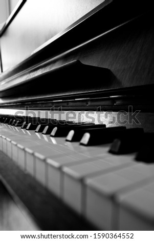 A beautiful serie of a piano shot in black and white #1590364552