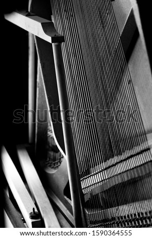 A beautiful serie of a piano shot in black and white #1590364555