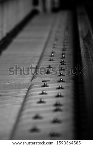 A beautiful serie of a piano shot in black and white #1590364585