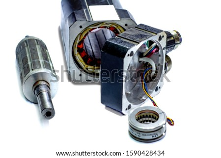 Electric motors (AC servo motor, DC brush-less motor, and stepping motor) #1590428434