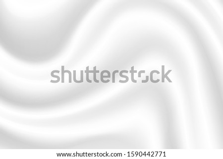 Abstract white background. Beautiful white wrinkled fabric background Soft as milk waves. #1590442771
