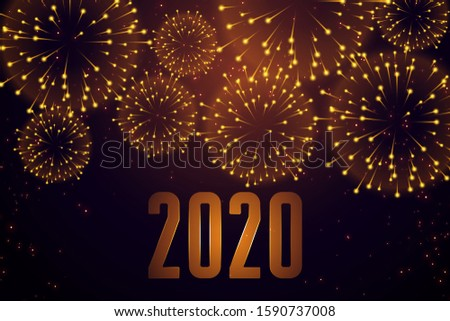 happy new year celebration firework 2020 background design #1590737008